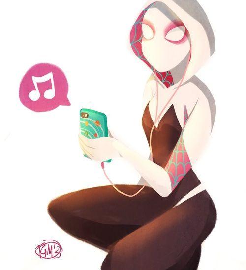 by thegingermenace123  tags : girl  fanart  spidergwen  spiderman  illustration  art  marvel