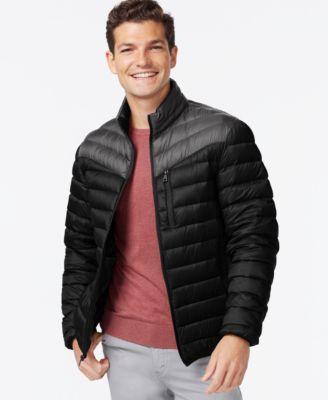 INC International Concepts Color-Blocked Down Packable Jacket | macys.com