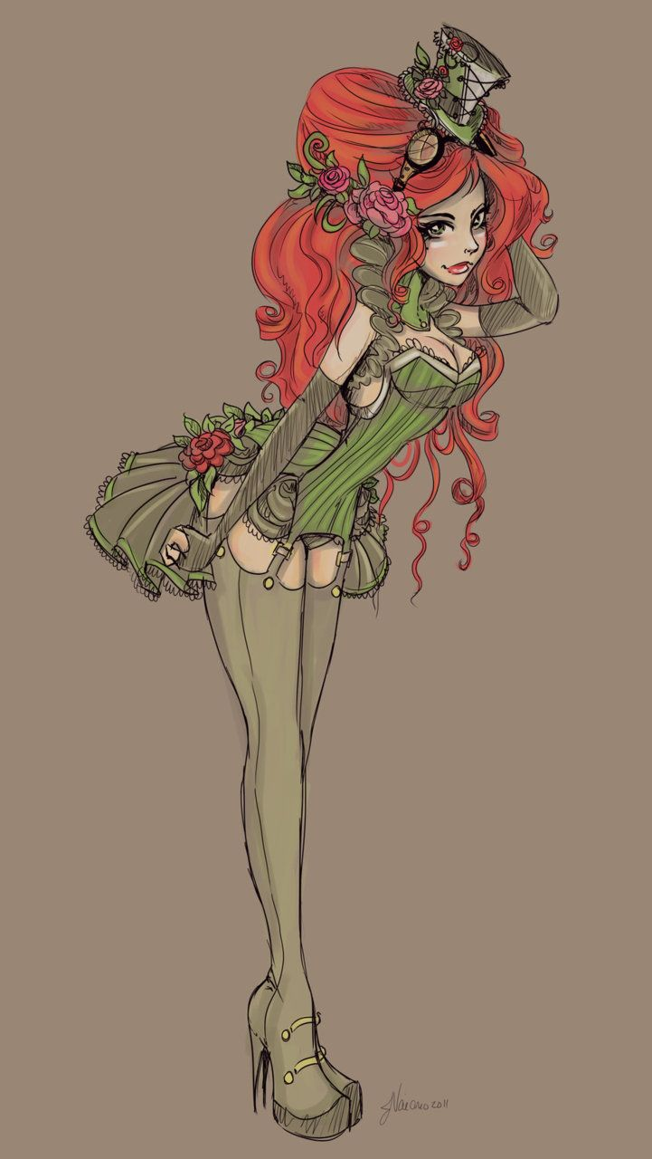 Steampunk Poison Ivy.                                                                                                                                                                                                                                                                                                                                                                           ❤Color※Red/Green❤