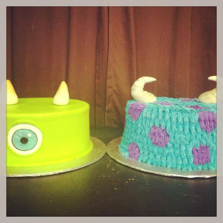 Monsters Inc. Mike & Sully cakes | Gala Bakery - San Lorenzo, CA | www.galabakery.com