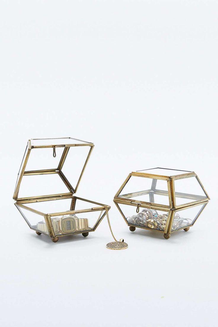 Mini Brass Edge Jewellery Box