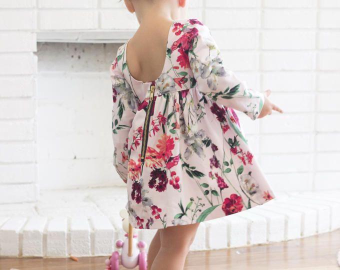 El Mabel Dress - Vestido de mangas - algodón - niñas vestido - vestido de invierno - otoño - mangas - todder dress - Vestido
