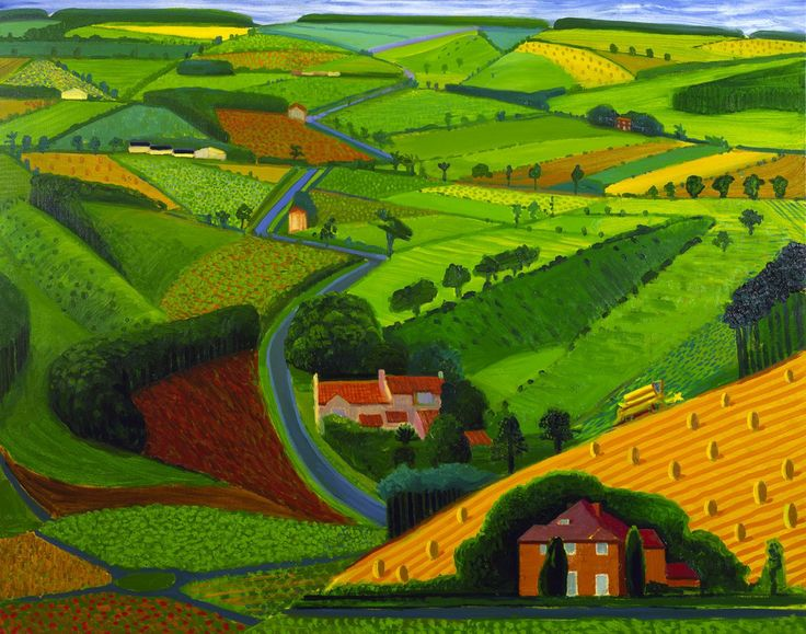 """""""The Road Across the Wolds"""" by David Hockney"""