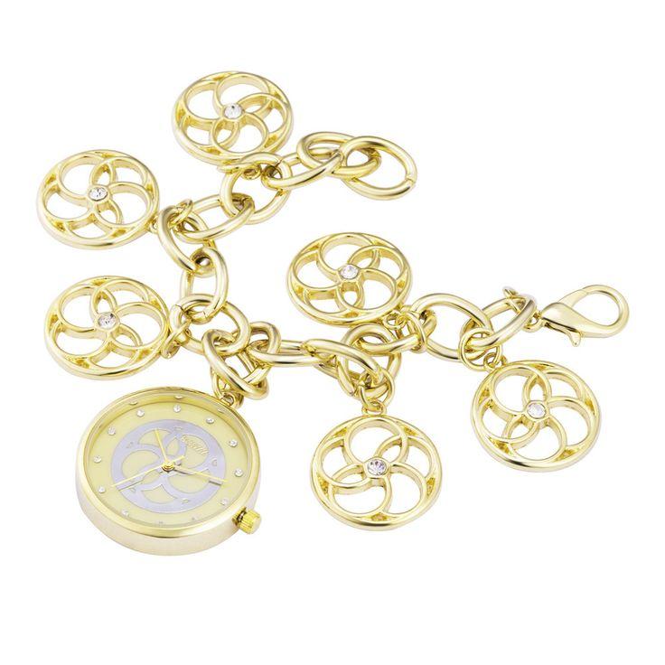 Дамы Серебро Золото Наручные Часы Браслет-Цепочка, круглый Циферблат Японии Movt Кварцевые Часы, женщины Наручные Часы