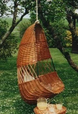 Hanging Chair   A Wonderful Addition For Relaxing In Your Home Or Garden.  Available With An Open Work Panel As Illustrated Or Fully Woven.