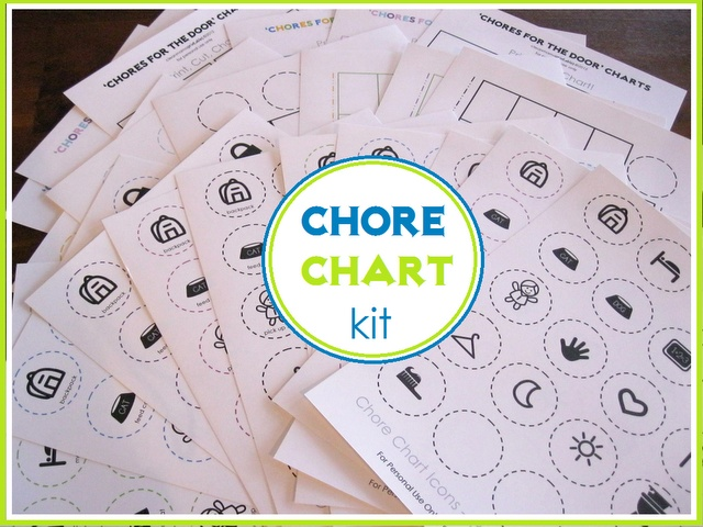 Chore charts for kids from Clean Mama