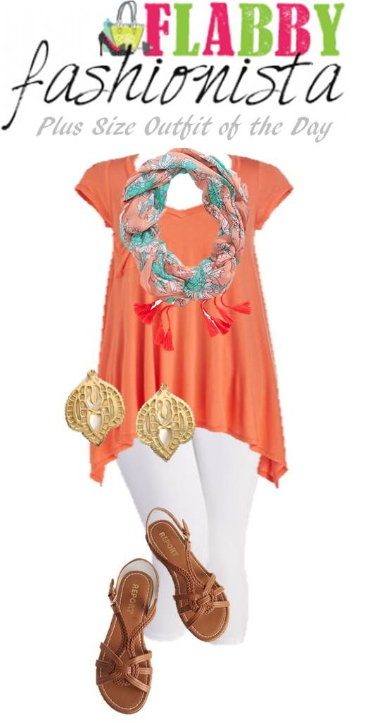 Plus Size Outfit of the Day – Spring Coral and Floral