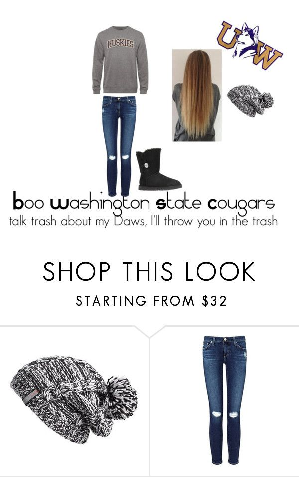 """""""Univeristy of Washington"""" by disneys-forgotten-villan on Polyvore featuring Zella, AG Adriano Goldschmied and UGG Australia"""