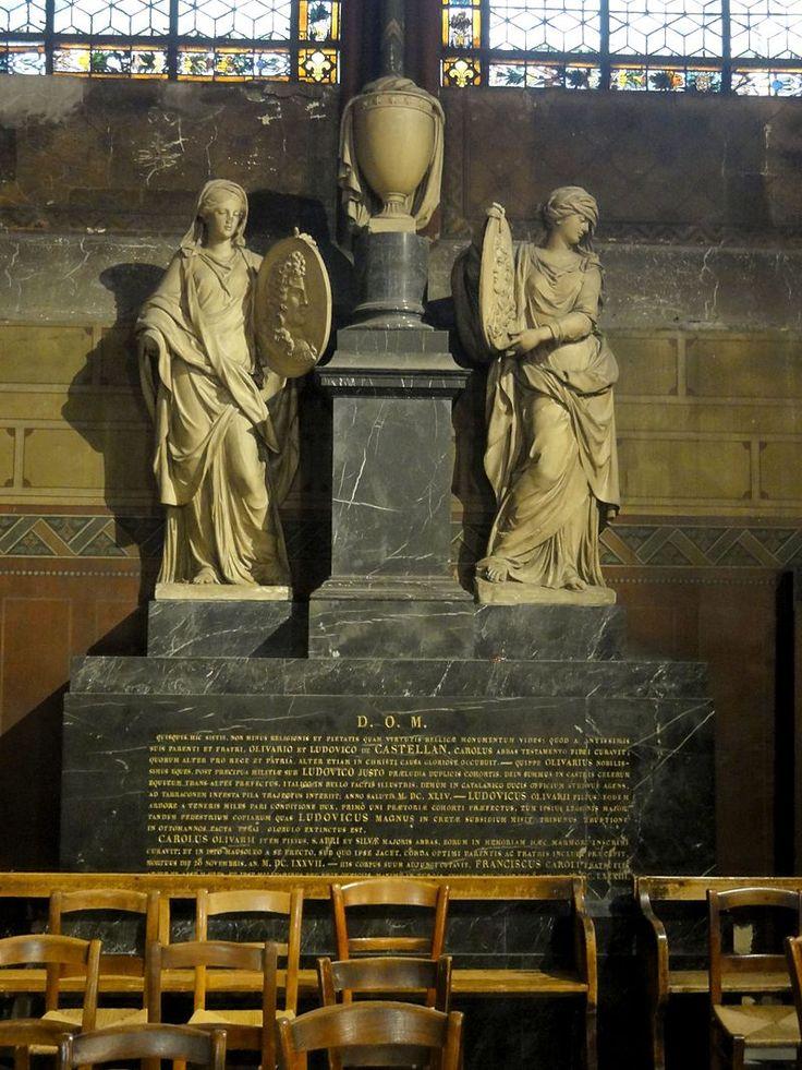 Paris (75), abbaye Saint-Germain-des-Prés, chapelle Ste-Marguerite, monument pour les frères de Castellane 1 - Abbaye de Saint-Germain-des-Prés — Wikipédia