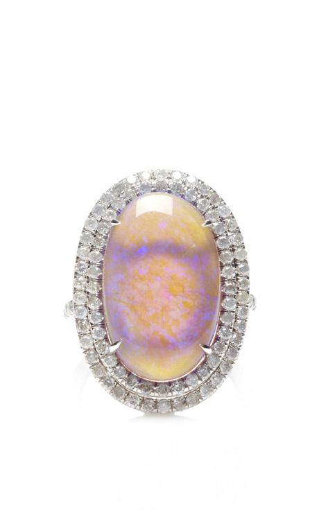 One Of A Kind Violet Lightning Ridge Opal Ring by Nina Runsdorf for Preorder on Moda Operandi