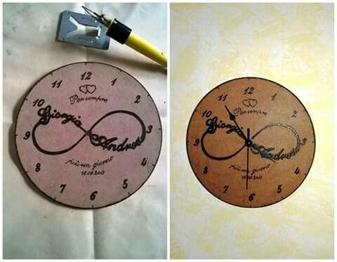 Orologio pirografo amore infinito