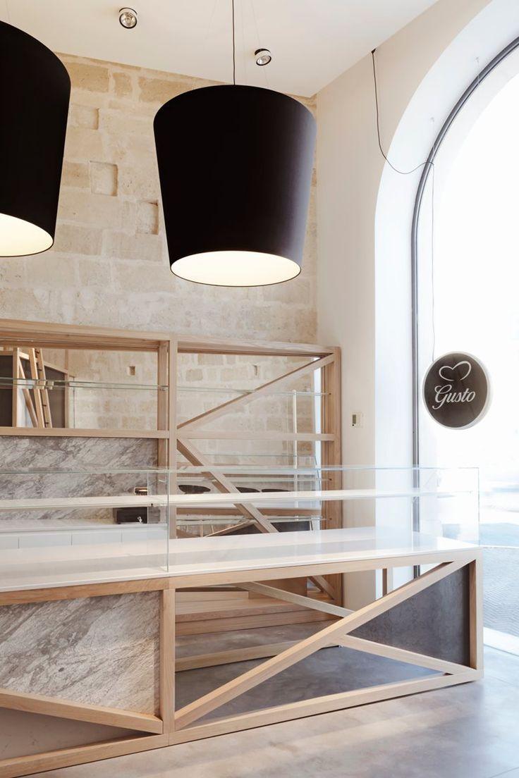 gusto rosticceria, Matera, 2015 - manca studio #architecture #interiordesign #lights
