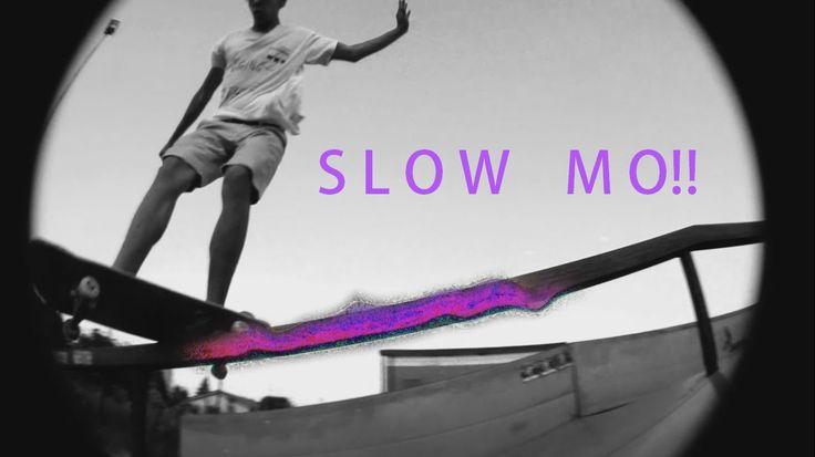 Frontside Feeble Grind Down Rail    [Slow-mo Skateboarding]
