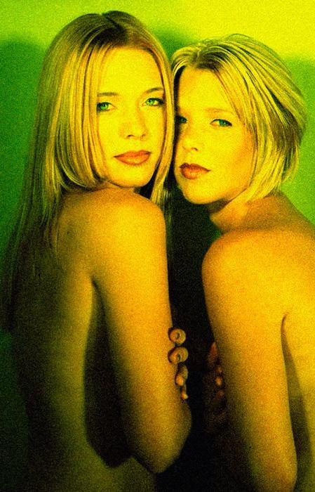 Danni & Danni- photoshoot for Divas hair salon 1999
