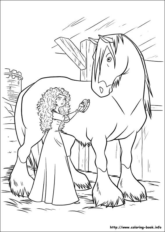 Brave Coloring Pages Pdf
