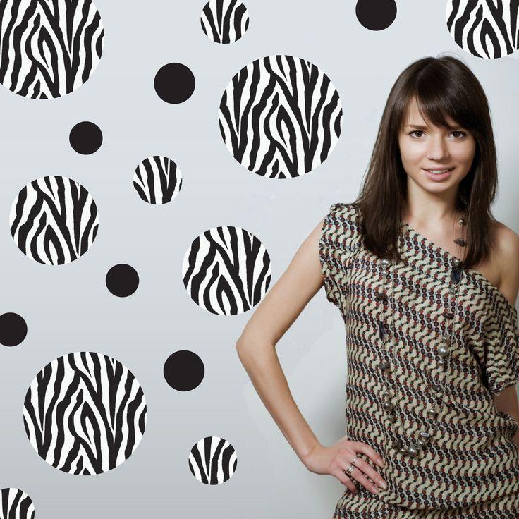 Black and White Zebra Print Wall Decals