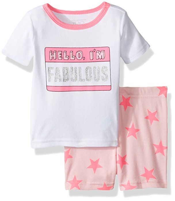 The Childrens Place Baby Girls 2-Piece Short Pajama Set