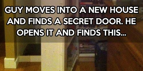 A secret room behind a bookshelf is cool until…UNTIL YOU FIND OUT SOMEONE HAS BEEN LIVING IN YOUR HOUSE WITH YOU... CREEPY
