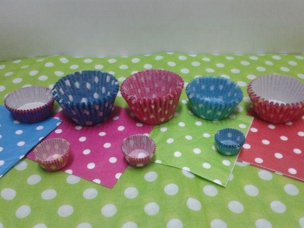 Capacillos de punticos para tus cupcakes