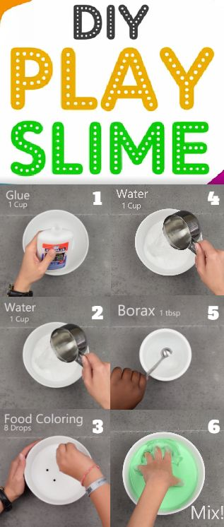 D.I.Y. Play-Time Slime: This projects is ooey-gooey FUN! Warning: Will entertain children for hours! For full instructions visit our blog at: http://www.babyfirstblog.com/diy-play-time-slime-2/
