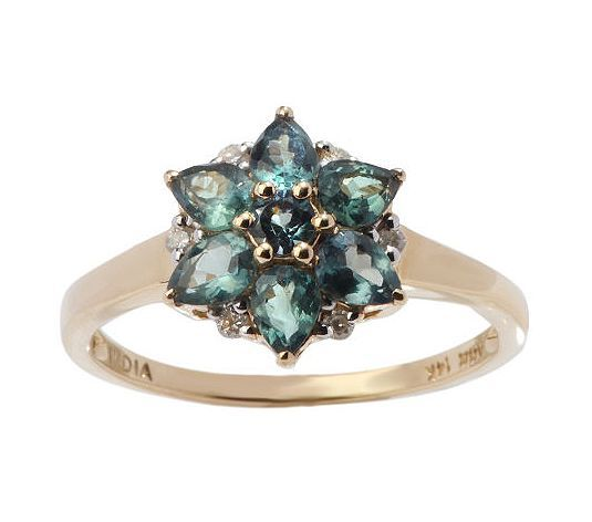 My birthstone- Alexandrite. I would love to find a ring like this!