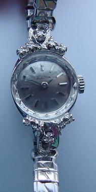 Ladies 14K Diamond Bulova Watch