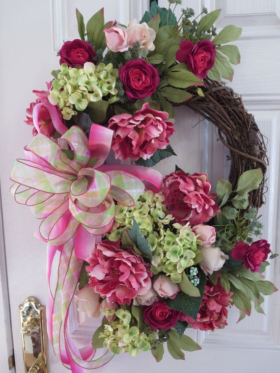 Spring Front Door Wreaths Summer Door Wreath by hollyhillwreaths