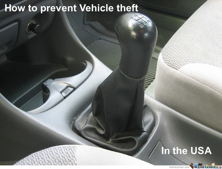 Haha: Work Outs, Sticks Shift, Vehicles Theft, White Girls, Funny Stuff, Theft Prevent, Seatbelt, True Stories, Prevent Vehicles