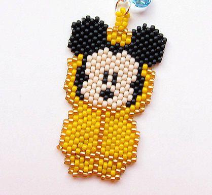 Mickey Mouse Disney Parks Poncho Beaded Zipper Pull
