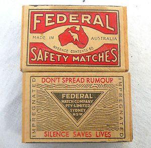 Australia Federal Match Box Label Patriotic