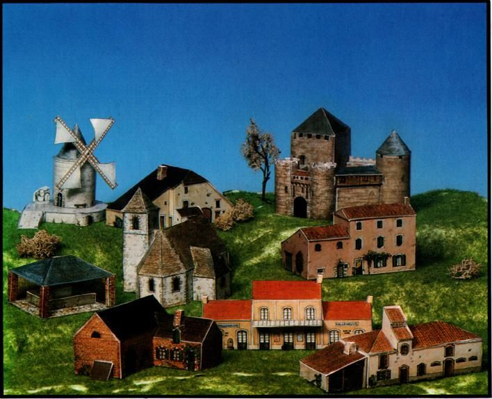 """Модель из бумаги """"Средневековая Франция"""" - Здания - Бумажные модели - Сделаем сами - Пан Ас. Сделай сам. Сделать самой. Детские поделки"""