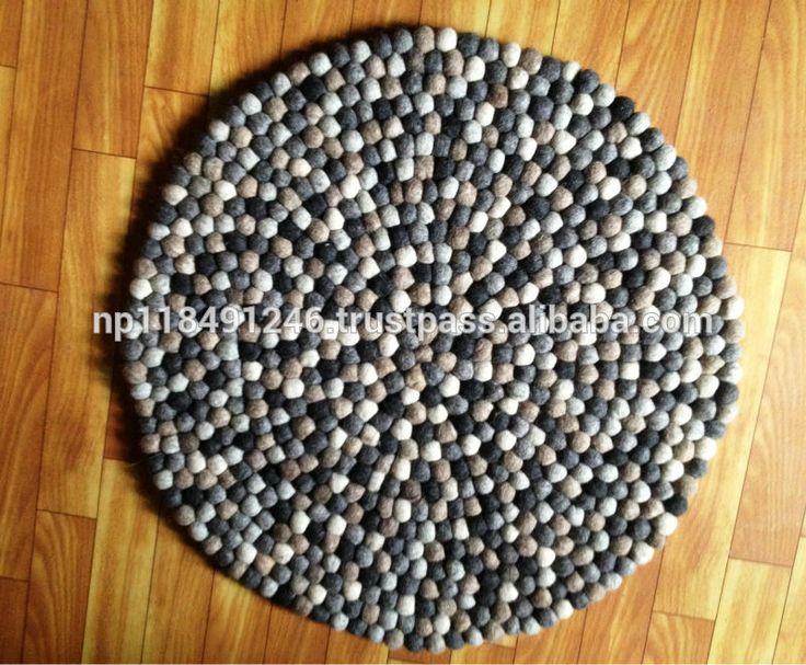 Высокое качество ручной работы шерстяного войлока мяч ковры / ковры, Непальский ковер / шерсть ковер-изображение-Ковёр-ID товара::171010622-russian.alibaba.com
