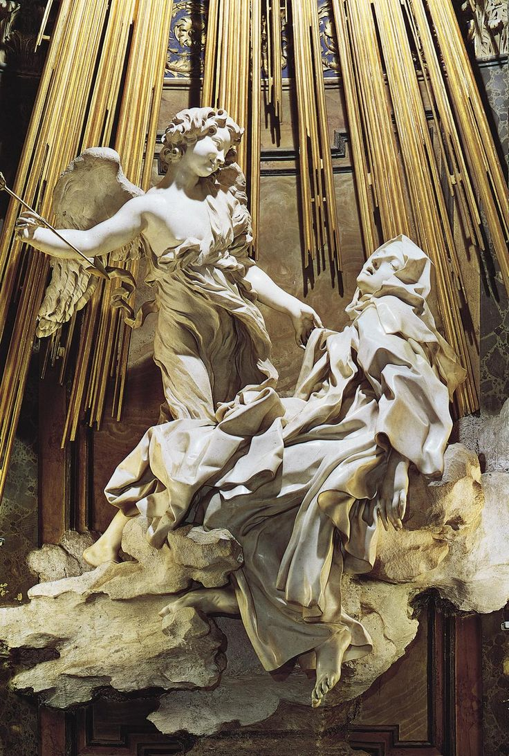 "femalebeautyinart:  "" The Ecstasy of Saint Theresa  Gian Lorenzo Bernini  1652  """