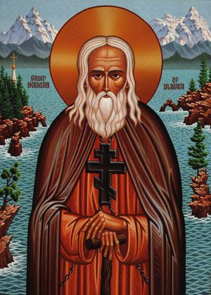 St. Herman of Alaska icon, by the hand of Fr. Luke Dingman, c. 2000