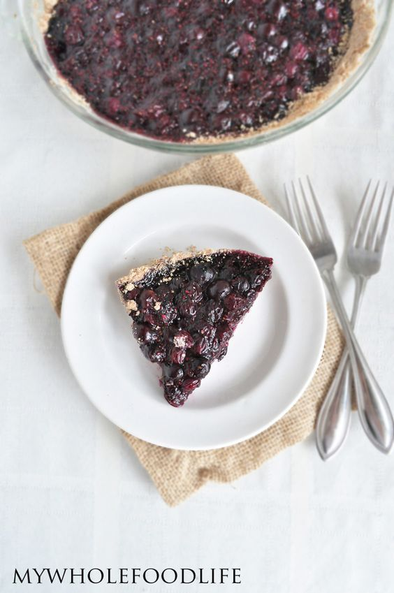 Healthy Blueberry Pie #MyWholeFoodLife