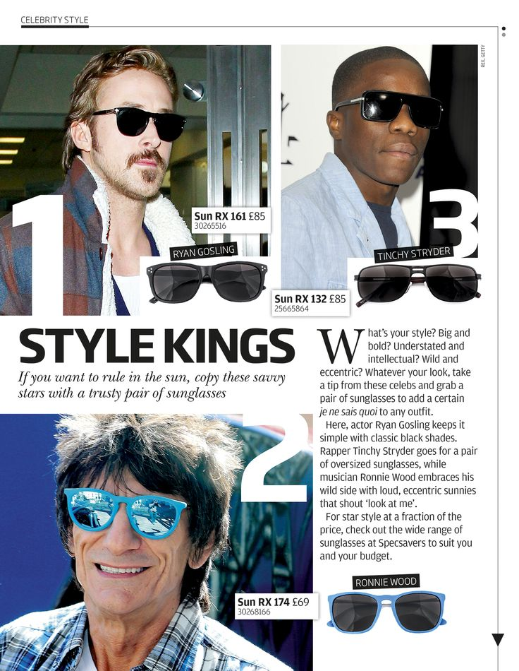 Rule in the sun with a trusty pair of sunglasses like these savvy stars.