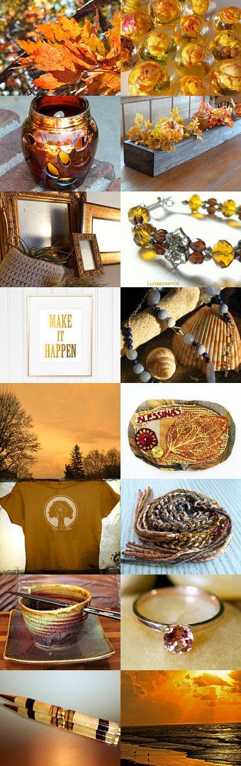 Autumn Blessings by Cassie on Etsy--Pinned with TreasuryPin.com - gold, bronze, and copper toned Fall gift ideas.