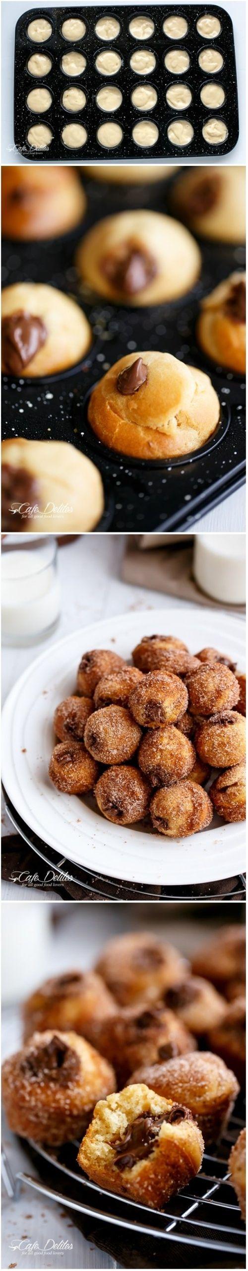Nutella Churro Donut Holes Recipe
