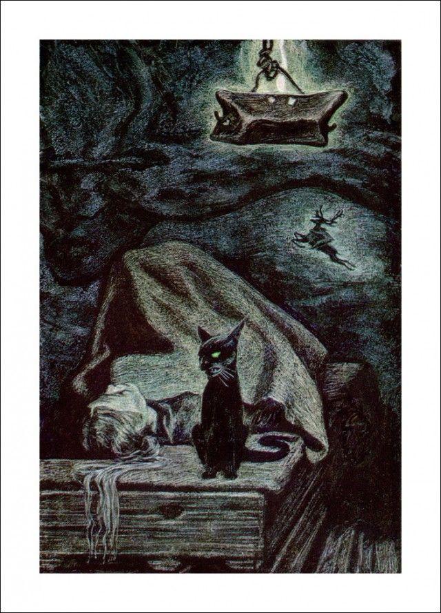 "Henrik Ibsen 'Peer Gynt', ""Åse's death"" by Савва Бродский"
