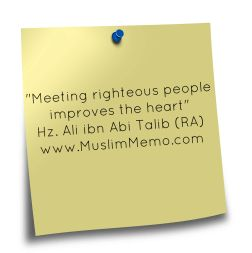 Meeting righteous people improves the heart. Alhamdulillah