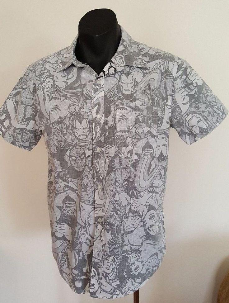 SIZE 34-36 ~MARVEL MENS SHIRT  Collared   Shirt