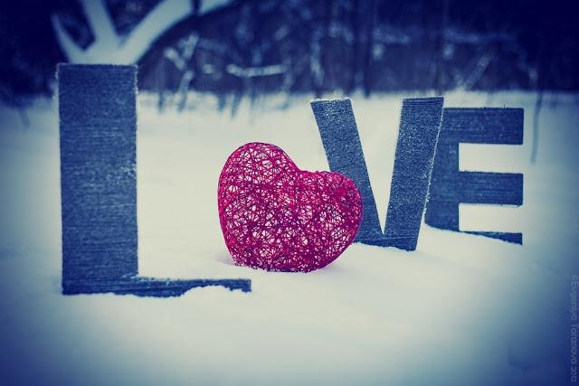 """Украшаем все вокруг! - Фотоэксперимент """"Когда уходит любовь.."""" #heart, #grey, #blue, #winter, #love, #letters"""