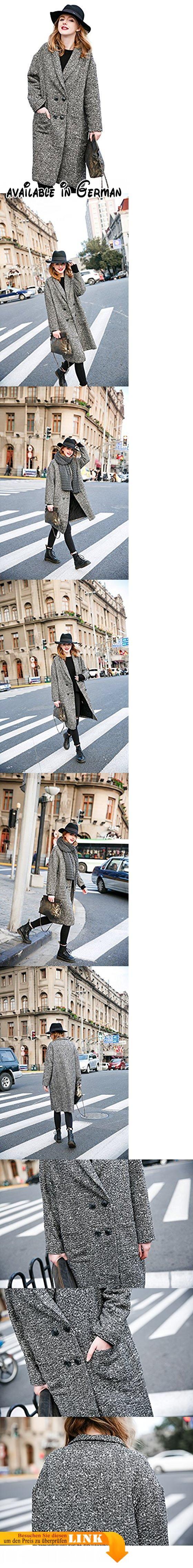 You.U Damen Fleece Lange grauer Mantel Reverskragen Loose Fit zweireihige Größe M. Material: 25% Baumwolle + 75% Polyester-Faser. Der Stoff ist weich im Griff und angenehm zu tragen. Waschverfahren : Es ist Maschine und Hand waschbar mit Reinigungsmitteln in kaltem Wasser. Einige Weichspüler kann das Hinzufügen Verhinderung statischer Elektrizität verhindern. Bitte bleichen nicht. Classic und Retro-Design aus Mailand Italien, zweireihig aufgesetzten Taschen Stirn-Spielen