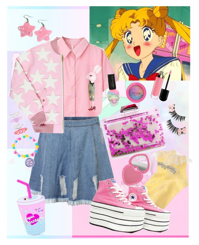 """""""Moon fashion ♡"""" by mumachan on Polyvore featuring ファッション, Concord, Converse, KOTUR, Twisted Bitches, Accessorize, Stila と Too Faced Cosmetics"""