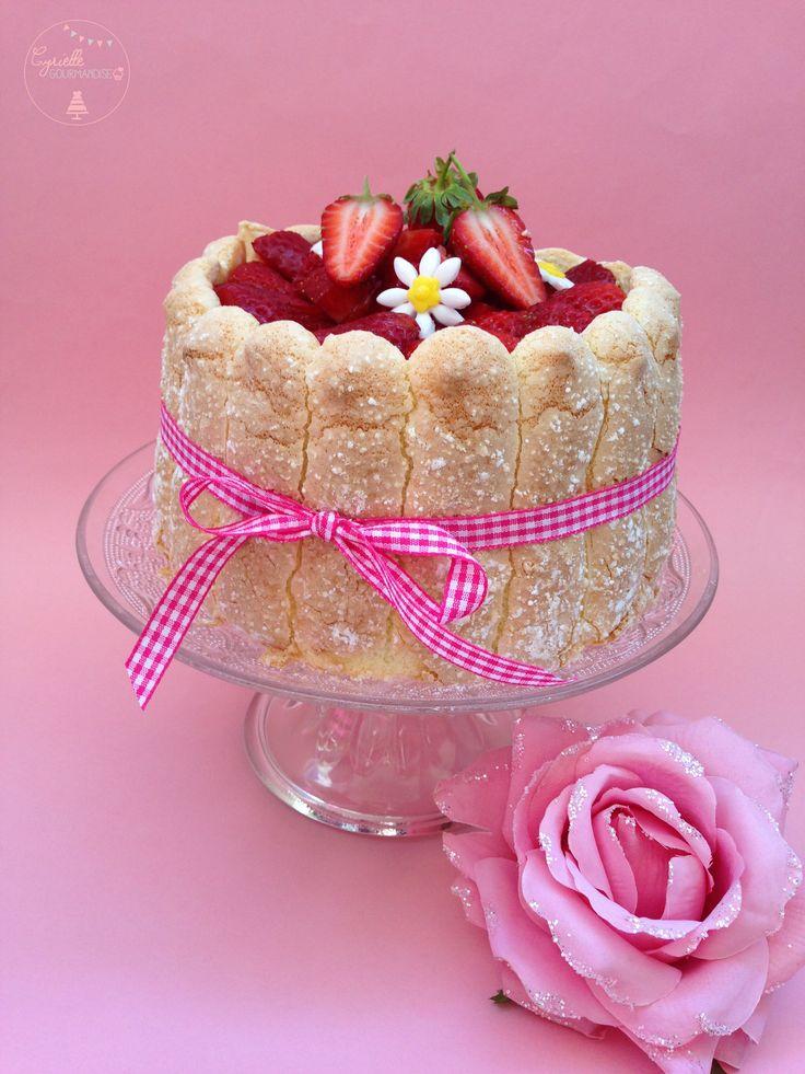 Charlotte aux fraises, biscuit cuiller maison | Cyrielle Gourmandise