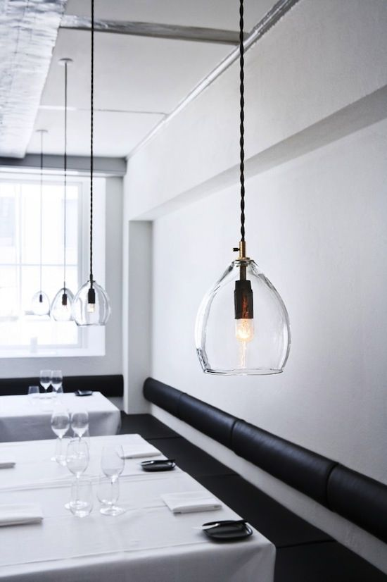 Unika is the brand new, hand crafted set of mouth blown glass lamps from Northern Lighting. Originally they were designed for Restaurant Gronbech and Churchill in Copenhagen.