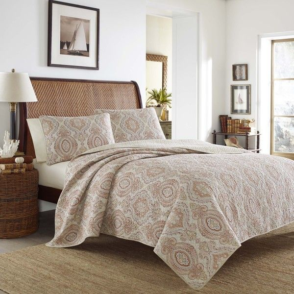 Tommy Bahama Turtle Cove Mango Quilt Set Bedding Quilt