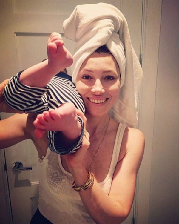 Mornings are child's play for Mama Bear Jessica Biel and the fun goes on and on and on and on.....
