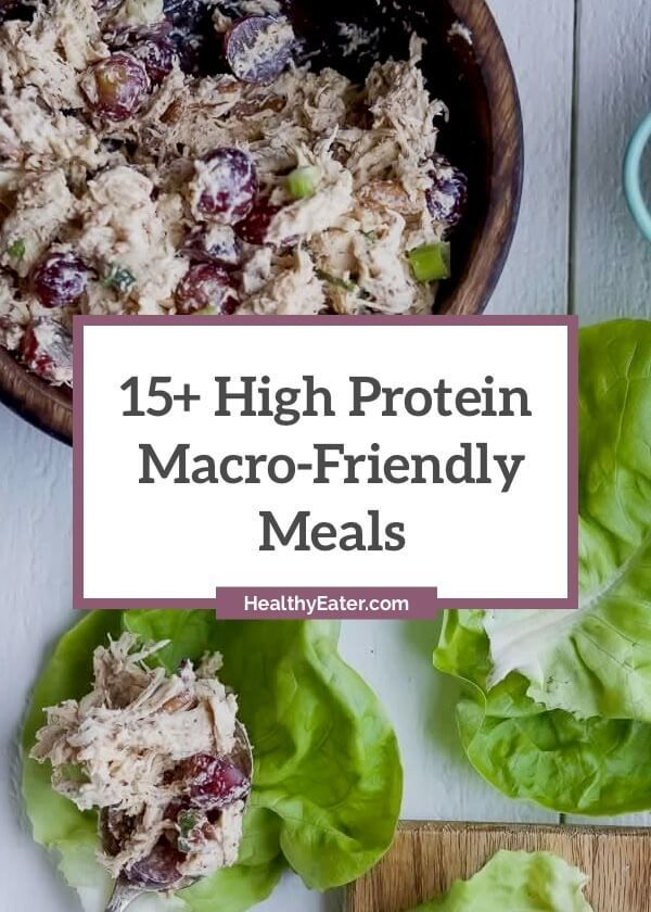 Here are some creative and great tasting meals dominant in the protein macro. They're great for flexible dieters that are also engaged in strength training