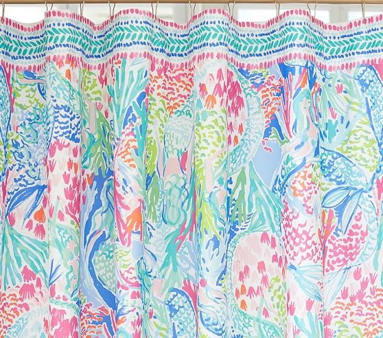 Lilly Pulitzer Mermaid Cove Shower Curtain Pottery Barn